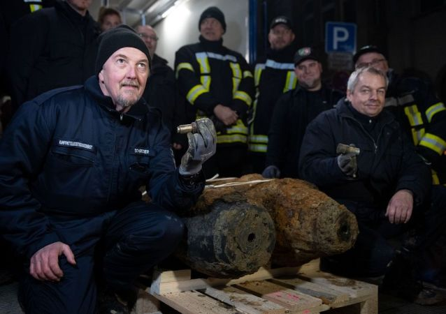 Almanya'da İkinci Dünya Savaşı'ndan kalma her biri 250 kilogram ağırlığında 2 adet patlamamış bomba bulundu