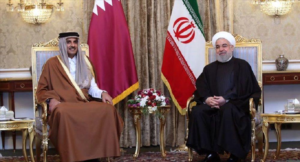 Katar Emiri Al Sani İran Cumhurbaşkanı Ruhani ile görüştü