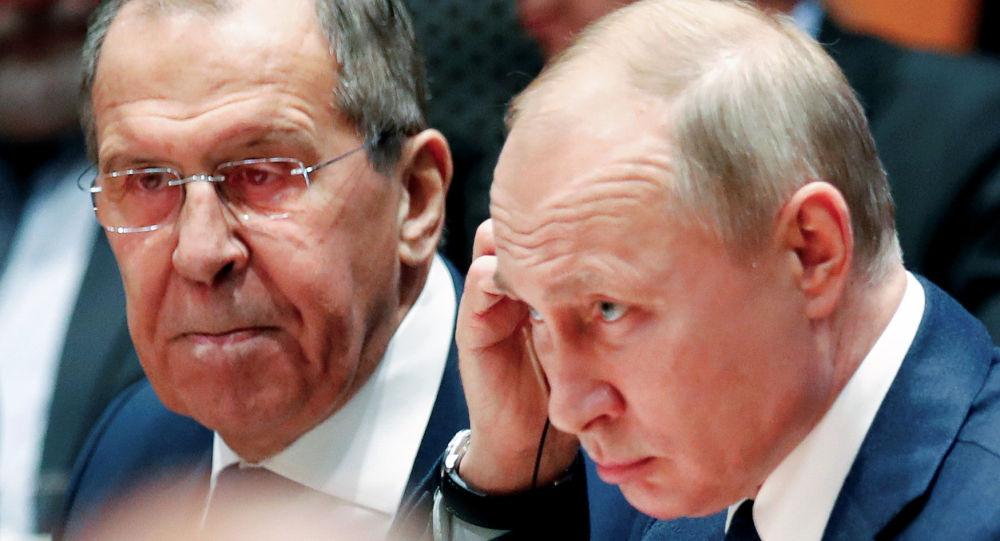 Rusya Dışişleri Bakanı Sergey Lavrov ve Rusya Devlet Başkanı Vladimir Putin, Berlin'de düzenlenen Libya Konferansı'nda