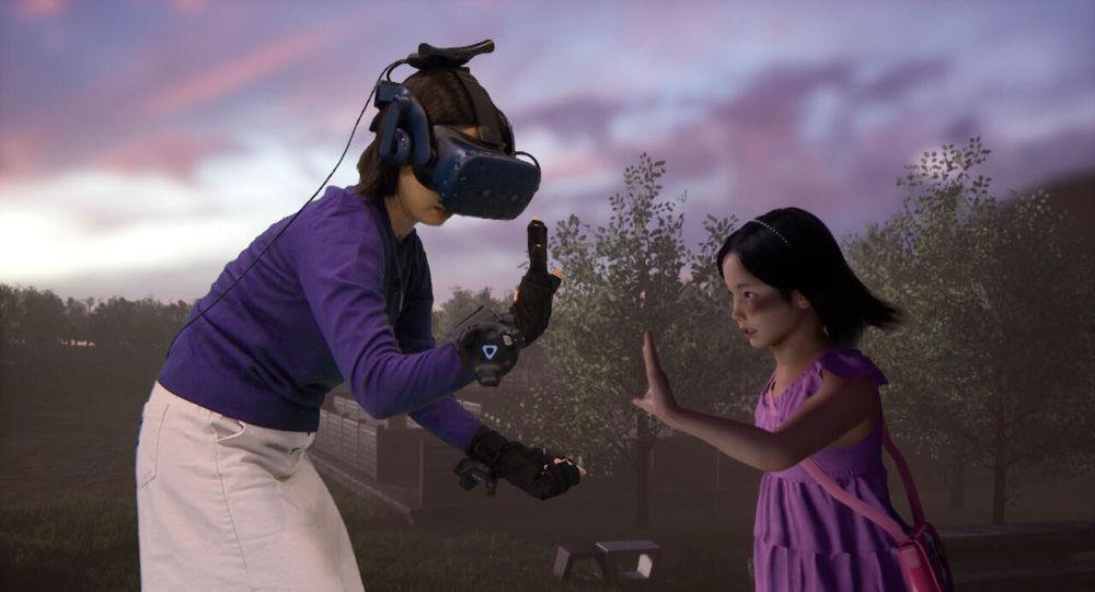 Ölen kızının 'sanal gerçeklik'teki görüntüsüyle görüştü ile ilgili görsel sonucu