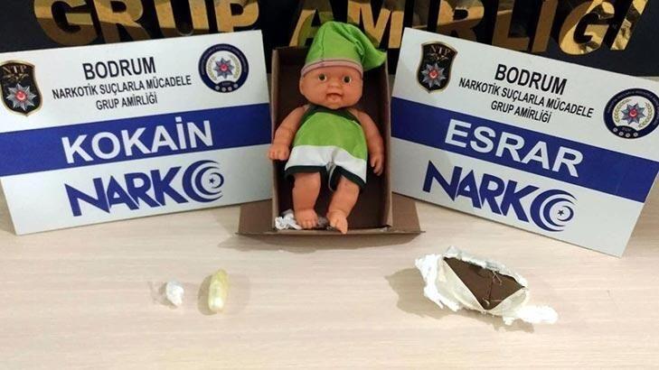 Bodrum'daki uyuşturucu operasyonunda oyuncak bebeğin içinden kokain çıktı