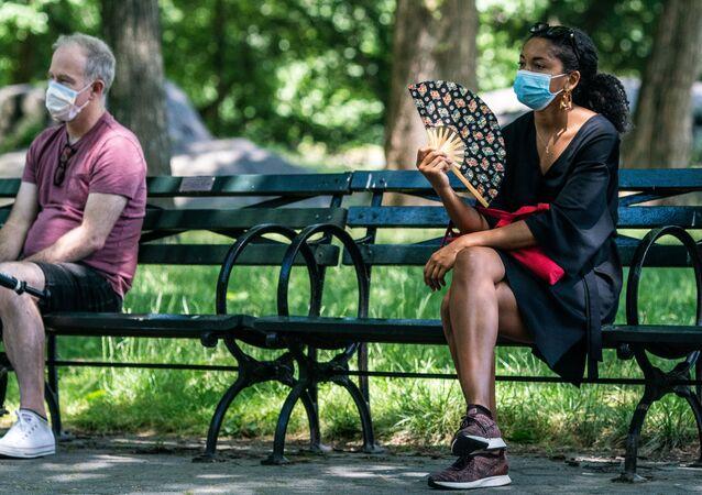 ABD - Central Park  - maske - koronavirüs