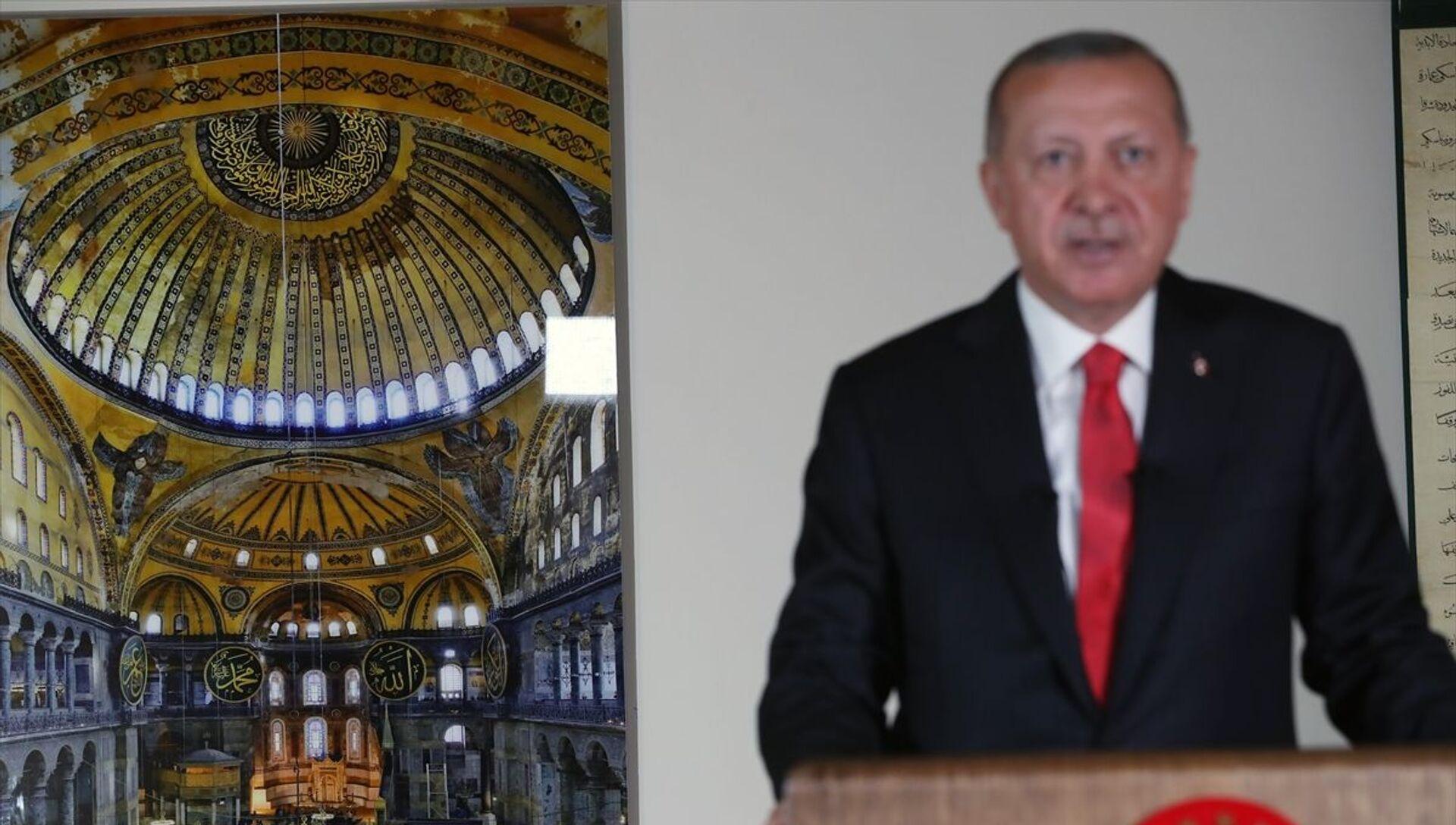 Recep Tayyip Erdoğan - Ayasofya - Sputnik Türkiye, 1920, 24.07.2021