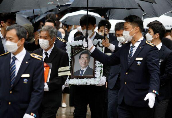 Seul Belediye Başkanı Park Won-soon için cenaze töreni yapıldı - Sputnik Türkiye