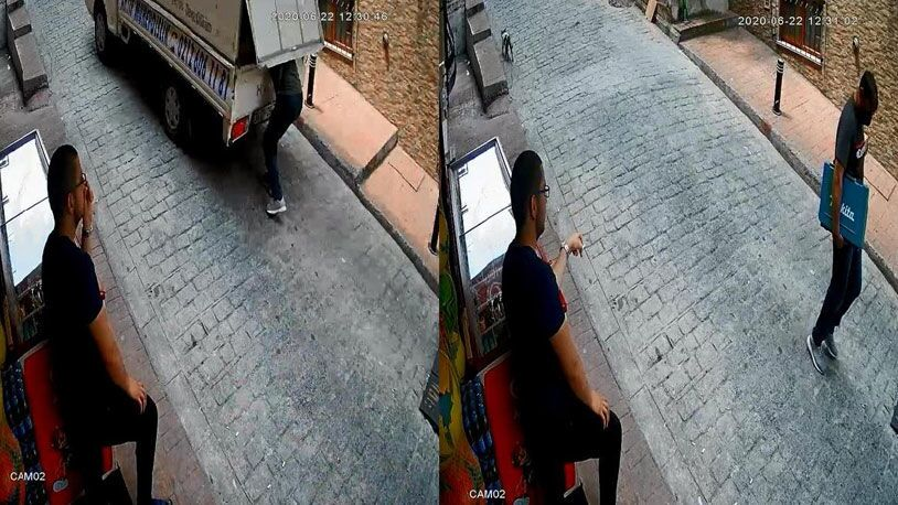 Beyoğlu'nda hareket halindeki kamyonetten hırsızlık