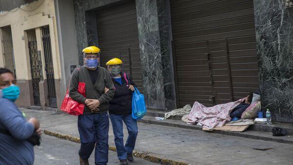 Peru-koronavirüs-evsiz - Sputnik Türkiye