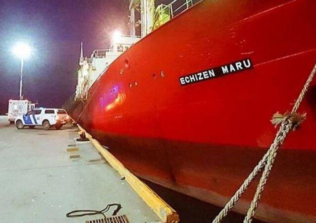 Arjantin'de balıkçıları taşıyan Echizen Maru