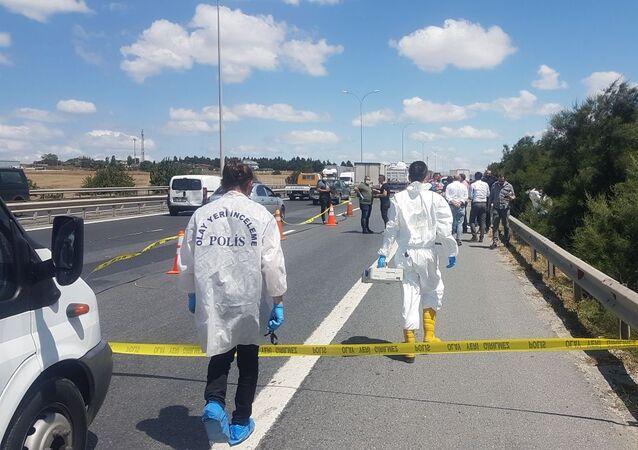TEM kenarında poşetlere konulmuş ceset parçaları bulundu