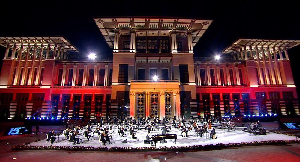 Cumhurbaşkanlığı Külliyesi'nde15 Temmuz Demokrasi ve Milli Birlik Günü'nün 4. yılına özel konser düzenlendi.