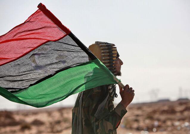 Libya, bayrak, isyancı