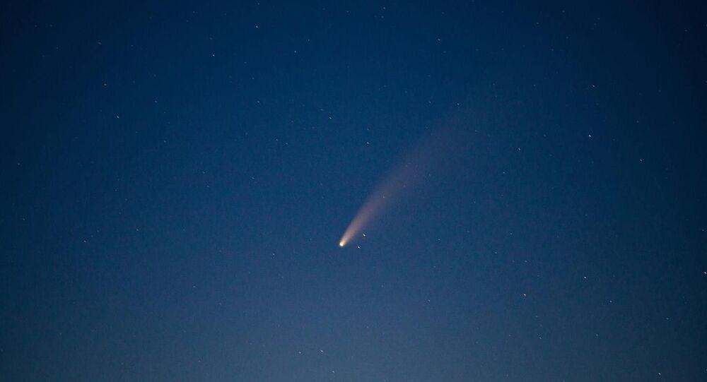 ABD Uzay ve Havacılık Ajansı (NASA) tarafından keşfedilen Neowise kuyruklu yıldızı, Tekirdağ'da bir fotoğraf tutkunu tarafından görüntülendi.