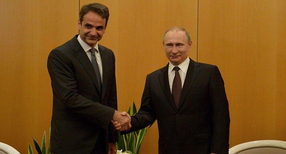 Rusya Devlet Başkanı Vladimir Putin ve Yunanistan Başbakanı Kiryakos Miçotakis