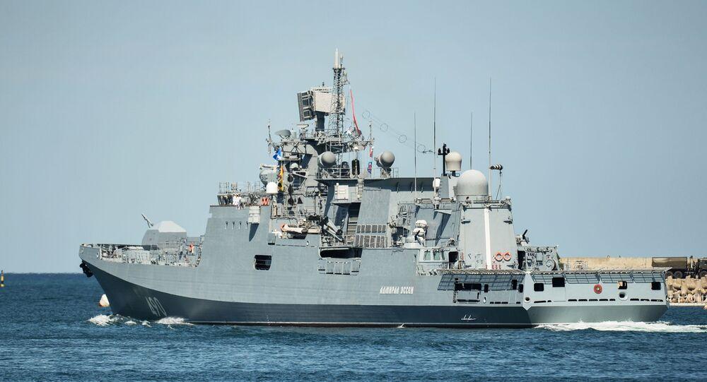 Sivastopol'da Donanma Günü onuruna yapılan geçit töreni provası
