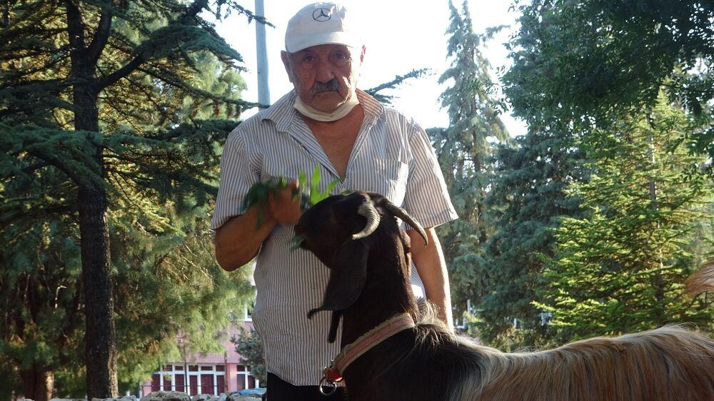 Mahalle sakinlerinin köpekten rahatsız olması üzerine köpeği bir tanıdığına veren Uluğ, 2 aylık bir keçi satın aldı.