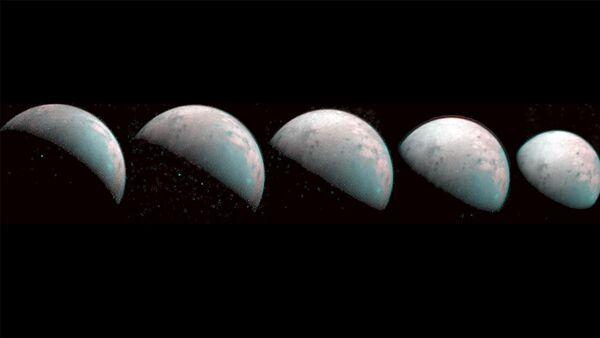 Jüpiter'in uydusu Ganymede'in kuzey kutbunun görüntüleri paylaşıldı - Sputnik Türkiye