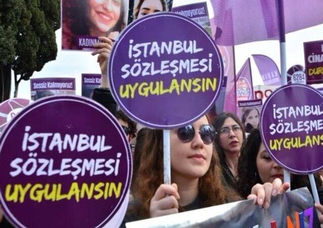 Kadına yönelik şiddet protestosu - İstanbul Sözleşmesi