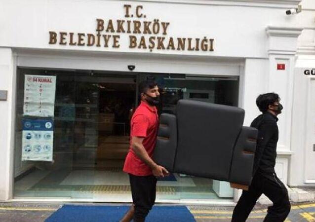 Bakırköy Belediyesi'ne haciz işlemi