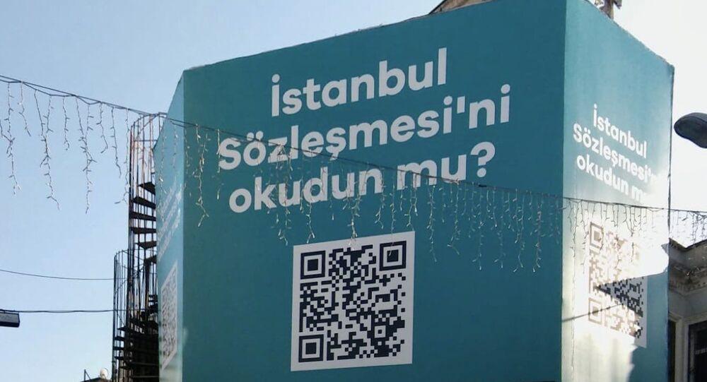 Beşiktaş Belediyesi İstanbul Sözleşmesi bilboard
