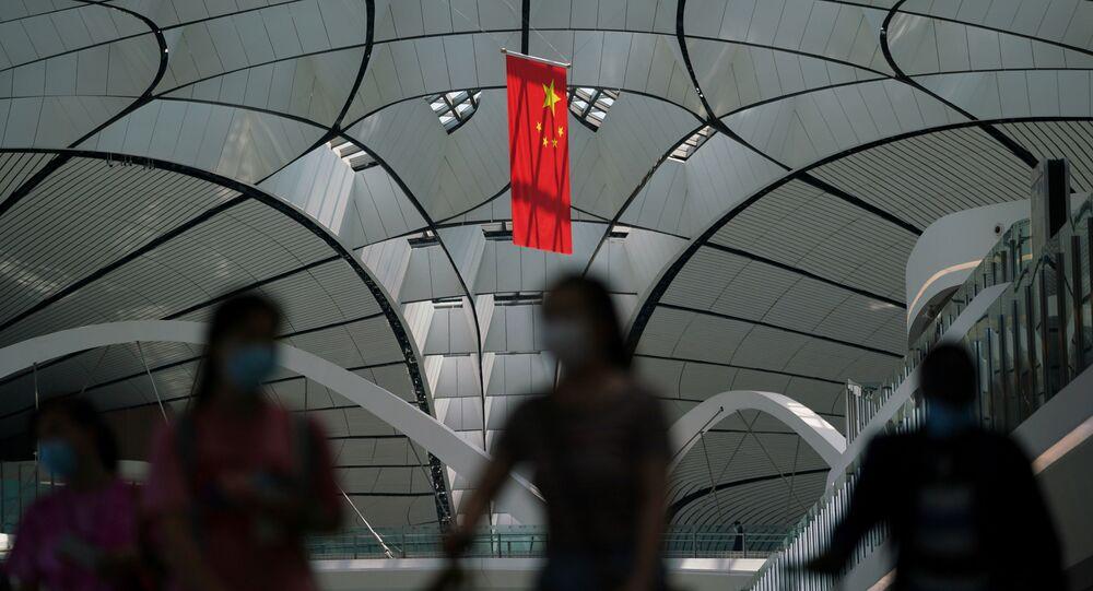 Çin bayrağı - koronavirüs - maske - Pekin