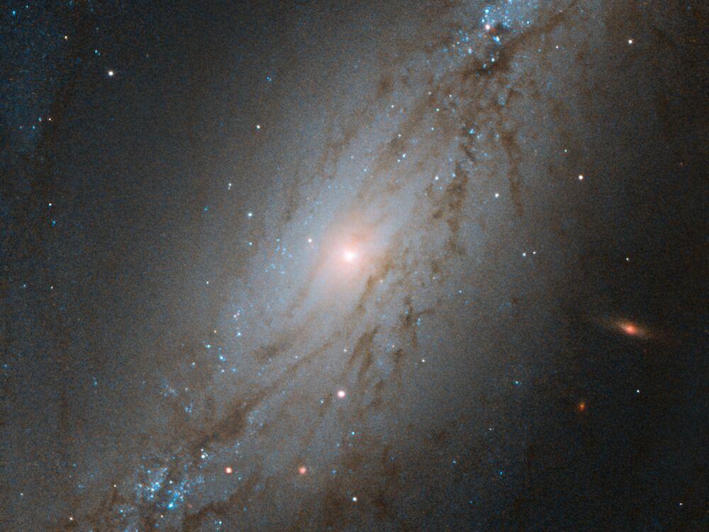 Heykeltıraş Takımyıldızı'nda yer alan NGC 7513 Galaksisi'nin görüntüsü