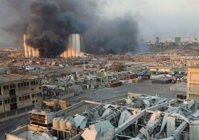 Lübnan Beyrut Limanı'nda meydana gelen patlama
