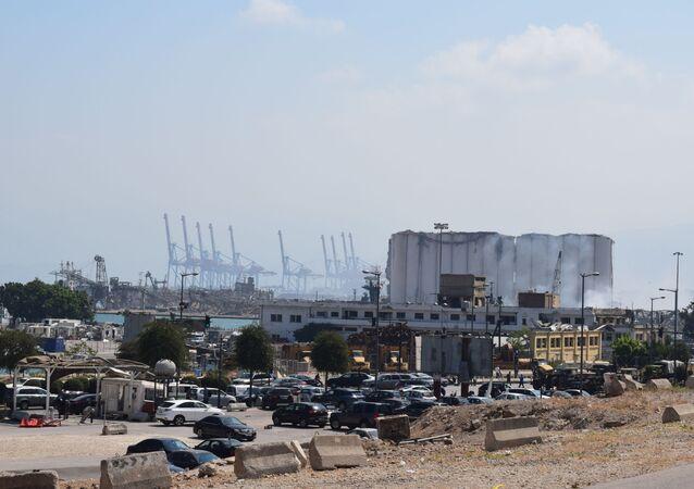 Lübnan Beyrut Limanı'nda meydana gelen patlamanın ardından Beyrut