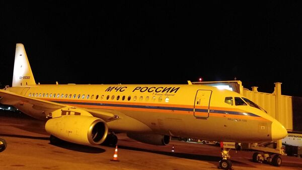Rusya Acil Durumlar Bakanlığı'na ait ilk yardım uçağı Beyrut'a indi - Sputnik Türkiye