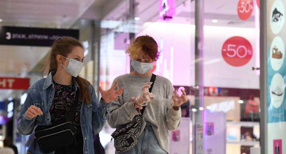 koronavirüs, alışveriş merkezi, Moskova, Rusya