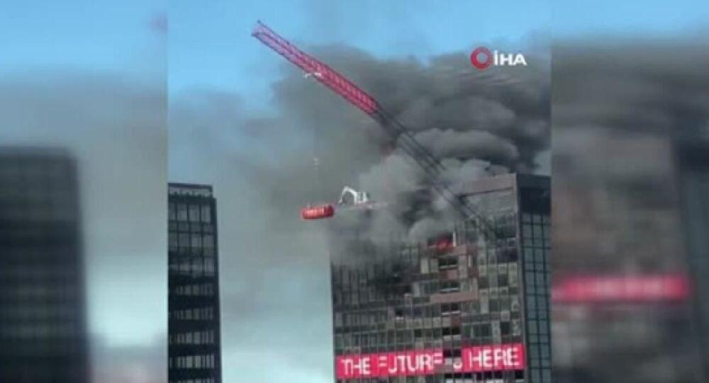 Brüksel'de Dünya Ticaret Örgütü binasında yangın
