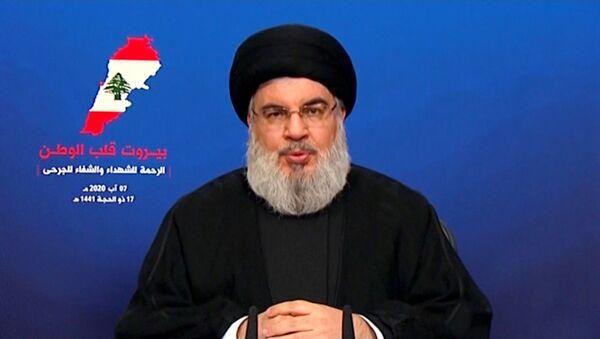 Hizbullah lideri Nasrallah - Sputnik Türkiye