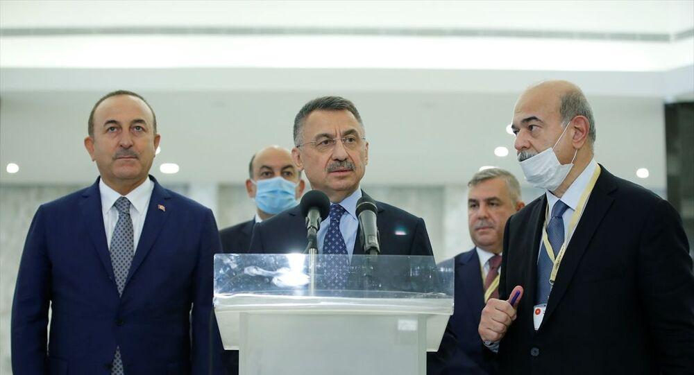 Cumhurbaşkanı Yardımcısı Fuat Oktay, Lübnan Cumhurbaşkanı Michel Aoun'la görüştü. Baabda Sarayı'nda gerçekleşen görüşme sonrası Oktay, gazetecilere açıklamalarda bulundu.