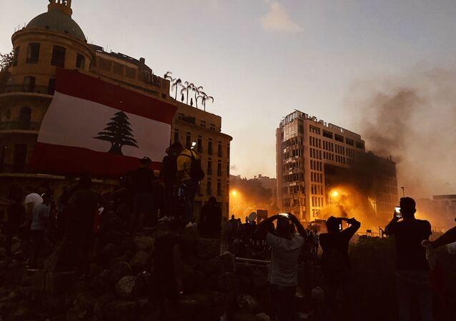 Beyrut'un merkezindeki çatışmalar