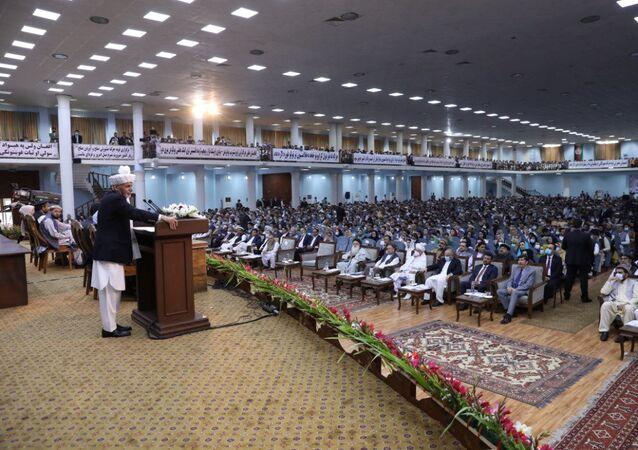 Afganistan'ın başkenti Kabil'de iki gün önce başlayan Büyük Halk Meclisi (Loya Cirga)