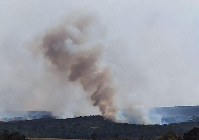 Bulgaristan'ın güneydoğusunda Hasköy ve Harmanlı bölgelerinde süren ve kontrol altına alınamayan yangınlar Türkiye sınırına yakın Matoçina köyüne yaklaştı.