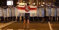 Belarus'un başkenti Minsk'te yapılan başkanlık seçimlerinden memnun olmayan halk sokaklara çıktı.