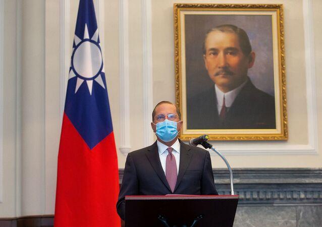 ABD Sağlık Bakanı Alex Azar, Tayvan'da