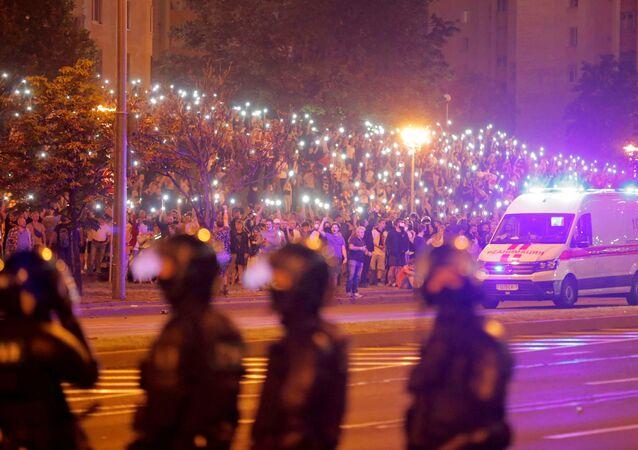 Minsk'in merkezinde yeni gözaltılar