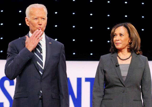 ABD'de Demokrat Parti'nin başkan adayı Joe Biden ve Kamala Harris