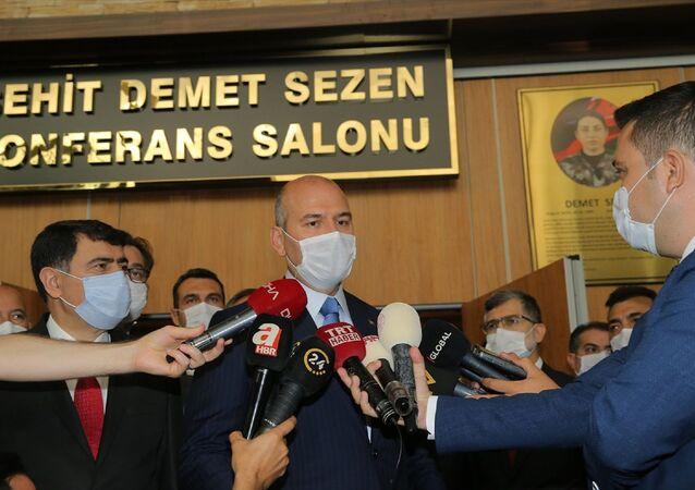 İçişleri Bakanı Süleyman Soylu, Afet Kriminal İnceleme Temel Eğitim Kursu Açılış Programı'na katıldı.