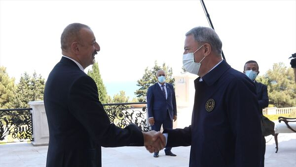 Aliyev, Hulusi Akar - Sputnik Türkiye