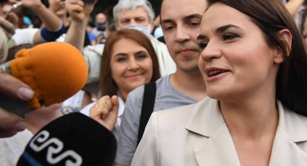 Belarus'taki seçimlerin ardından ülkeyi terk ederek Litvanya'ya giden muhalif aday Svetlana Tihanovskaya