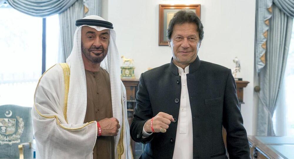 Birleşik Arap Emirlikleri (BAE) Abu Dabi Veliaht Prensi Muhammed bin Zayed Al Nahyan ve Pakistan Başbakanı İmran Han