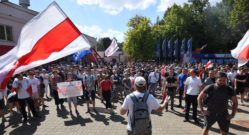Minsk'teki fabrika işçilerinin eylemi, Belarus