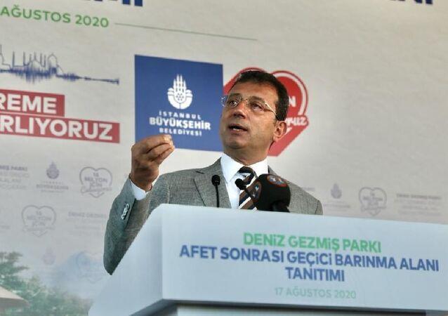 """İstanbul Büyükşehir Belediye (İBB) Başkanı Ekrem İmamoğlu, Ataşehir ve Topkapı'da hizmete aldıkları """"Afet Sonrası Geçici Barınma Alanları""""nı kamuoyuna tanıttı."""