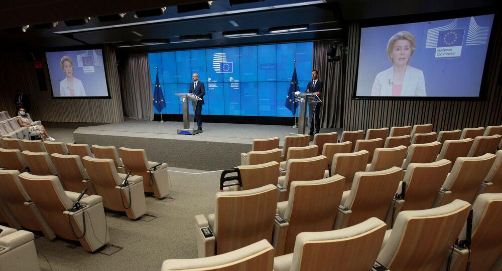 Belarus'taki gelişmeleri görüşmek üzere video konferans yöntemiyle yapılan olağanüstü AB zirvesi