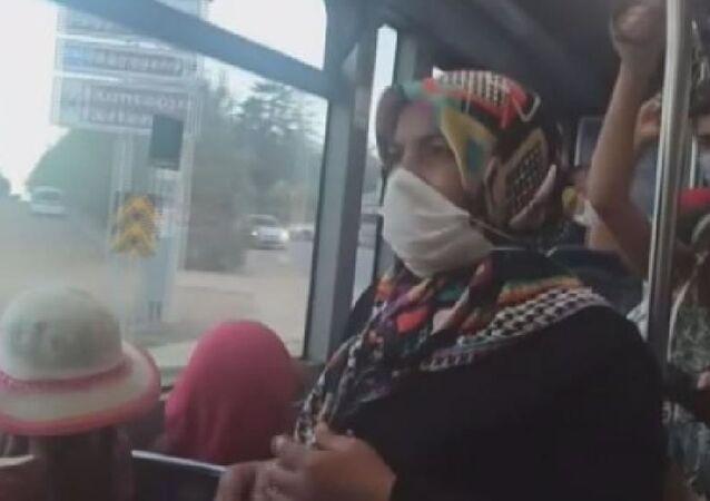 Otobüste maske takmayan kadın kendisini 'Doktorum takma dedi' diye savundu