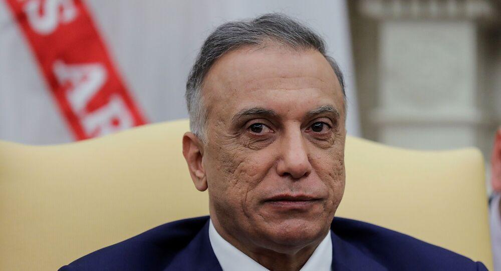 Irak Başbakanı Mustafa el-Kazimi, ABD'ye gerçekleştirdiği ziyaret kapsamında Beyaz Saray'da ABD Başkanı Donald Trump ile görüştü
