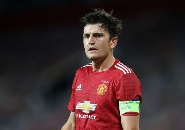 Manchester United kaptanı Harry Maguire, Avrupa Ligi son 16'da LASK Linz'i ağırladıkları maçta