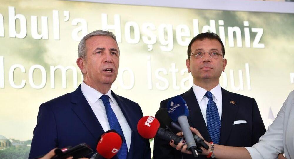 İstanbul Büyükşehir Belediye Başkanı Ekrem İmamoğlu, Ankara Büyükşehir Belediye Başkanı Mansur Yavaş
