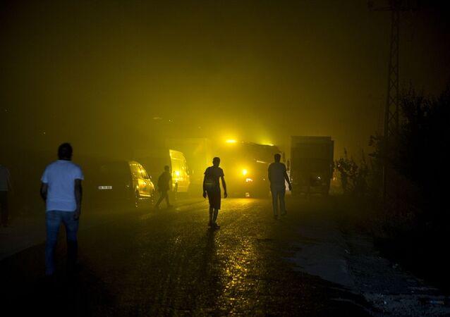 Ankara'da kargo firmasının deposunda yangın